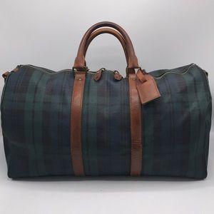 Polo-Ralph Lauren Boston Check Travel Duffel Bag